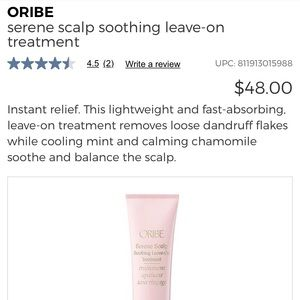 Probe serene scalp soothing leave on treatment nwt